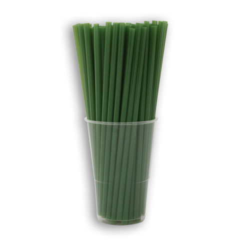Paille biodégradable verte